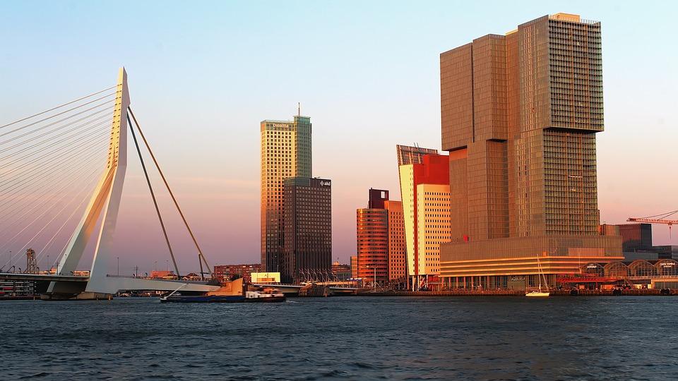 rotterdam panorama miasta